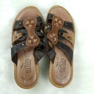 Fly Flot Italian Sandals leather size 6